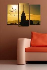 Ceas decorativ de perete(3 articole) Clock Art 228CLA2666 Multicolor