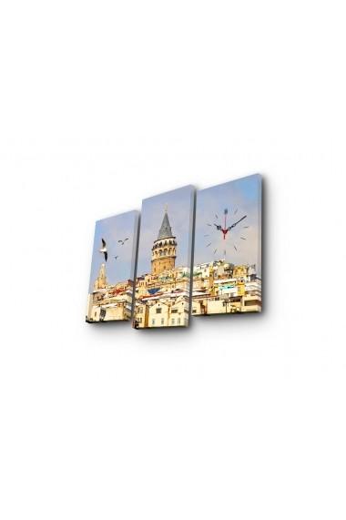 Ceas decorativ de perete(3 articole) Clock Art 228CLA2667 Multicolor