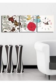 Ceas decorativ de perete(3 articole) Clock Art 228CLA2671 Multicolor