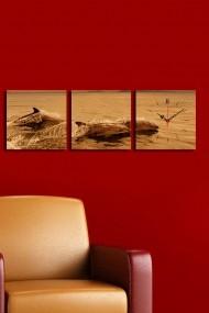 Ceas decorativ de perete(3 articole) Clock Art 228CLA2674 Multicolor