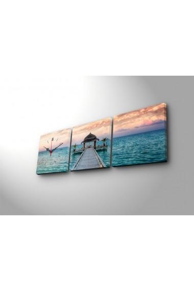 Ceas decorativ de perete(3 articole) Clock Art 228CLA2675 Multicolor