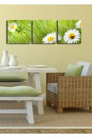 Ceas decorativ de perete(3 articole) Clock Art 228CLA2676 Multicolor