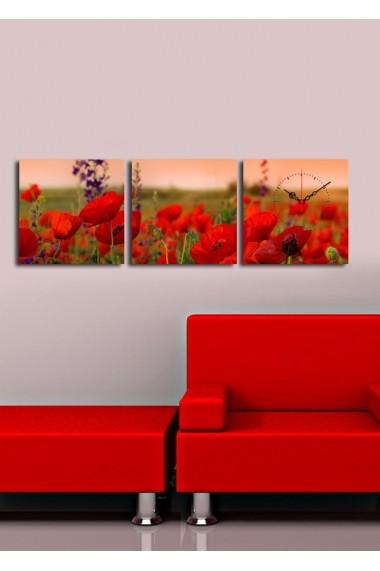 Ceas decorativ de perete(3 articole) Clock Art 228CLA2678 Multicolor