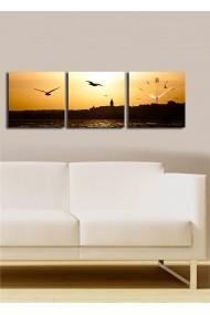 Ceas decorativ de perete(3 articole) Clock Art 228CLA2679 Multicolor