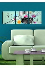 Ceas decorativ de perete(3 articole) Clock Art 228CLA2680 Multicolor