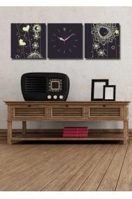 Ceas decorativ de perete(3 articole) Clock Art 228CLA2682 Multicolor