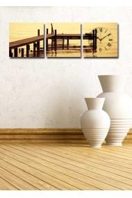 Ceas decorativ de perete(3 articole) Clock Art 228CLA2683 Multicolor