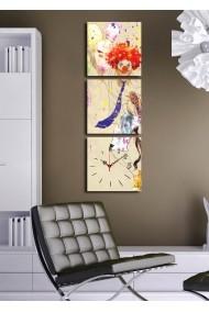 Ceas decorativ de perete(3 articole) Clock Art 228CLA2684 Multicolor