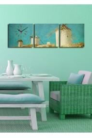Ceas decorativ de perete(3 articole) Clock Art 228CLA2685 Multicolor