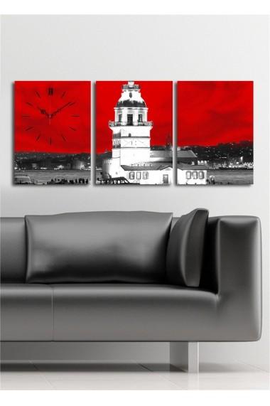 Ceas decorativ de perete(3 articole) Clock Art 228CLA2688 Multicolor