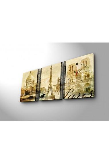 Ceas decorativ de perete(3 articole) Clock Art 228CLA2693 Multicolor