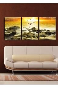 Ceas decorativ de perete(3 articole) Clock Art 228CLA2695 Multicolor