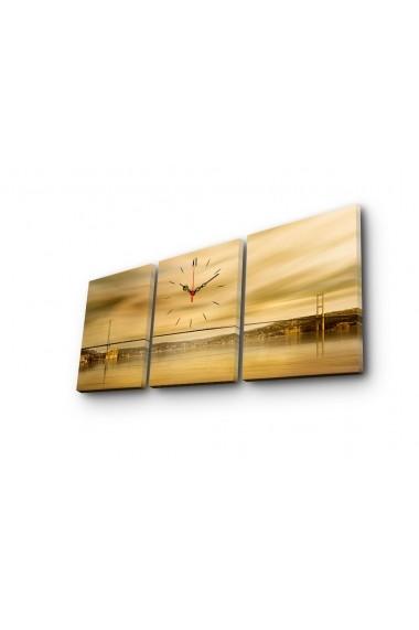 Ceas decorativ de perete(3 articole) Clock Art 228CLA2696 Multicolor