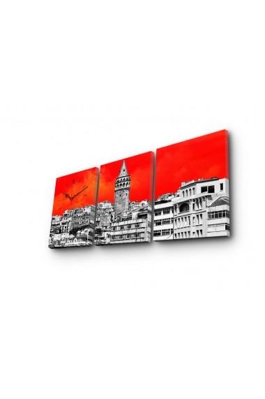 Ceas decorativ de perete(3 articole) Clock Art 228CLA2697 Multicolor