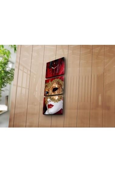 Ceas decorativ de perete(3 articole) Clock Art 228CLA2698 Multicolor