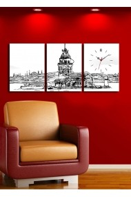 Ceas decorativ de perete(3 articole) Clock Art 228CLA3602 Multicolor