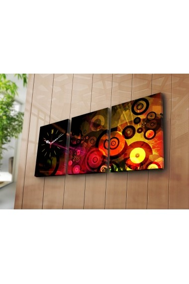 Ceas decorativ de perete(3 articole) Clock Art 228CLA3607 Multicolor