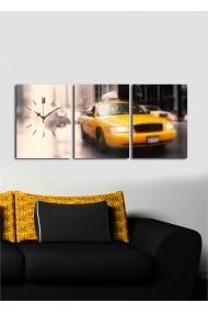 Ceas decorativ de perete(3 articole) Clock Art 228CLA3608 Multicolor