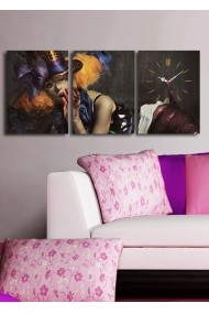 Ceas decorativ de perete(3 articole) Clock Art 228CLA3609 Multicolor