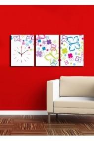 Ceas decorativ de perete(3 articole) Clock Art 228CLA3614 Multicolor