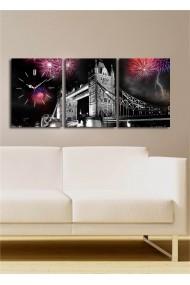 Ceas decorativ de perete(3 articole) Clock Art 228CLA3617 Multicolor