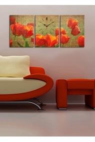 Ceas decorativ de perete(3 articole) Clock Art 228CLA3618 Multicolor