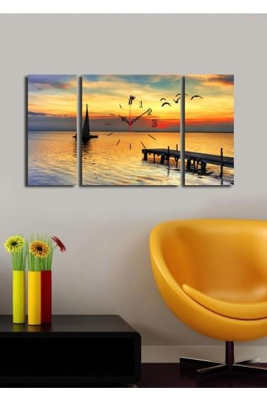 Ceas decorativ de perete(3 articole) Clock Art 228CLA3621 Multicolor