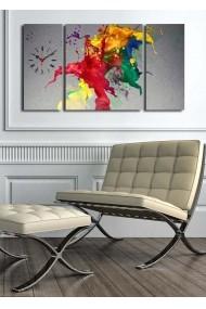 Ceas decorativ de perete(3 articole) Clock Art 228CLA3628 Multicolor
