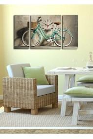 Ceas decorativ de perete(3 articole) Clock Art 228CLA3634 Multicolor