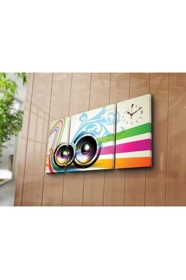 Ceas decorativ de perete(3 articole) Clock Art 228CLA3635 Multicolor