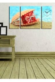 Ceas decorativ de perete(3 articole) Clock Art 228CLA3636 Multicolor
