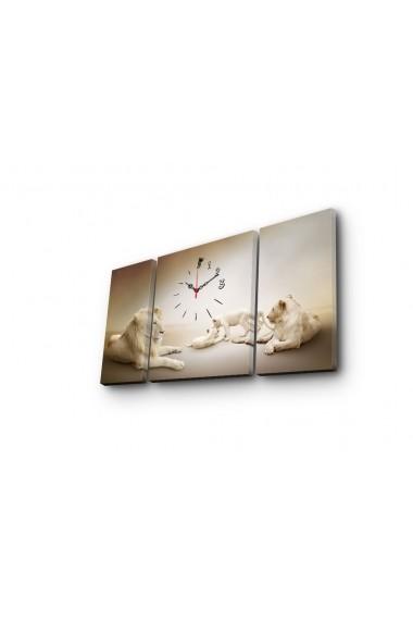 Ceas decorativ de perete(3 articole) Clock Art 228CLA3638 Multicolor