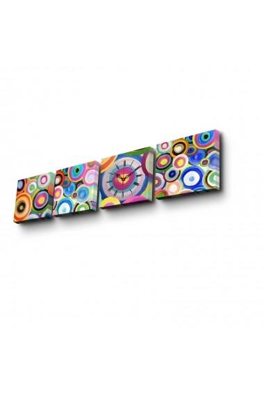 Ceas decorativ de perete(4 articole) Clock Art 228CLA3641 Multicolor