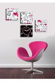 Ceas decorativ de perete(4 articole) Clock Art 228CLA3642 Multicolor