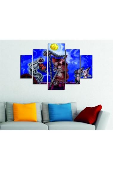 Set tablouri MDF 5 piese Destiny ASR-247DST1921 Multicolor - els