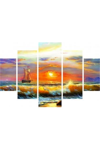 Set tablouri MDF 5 piese Destiny ASR-247DST1948 Multicolor - els