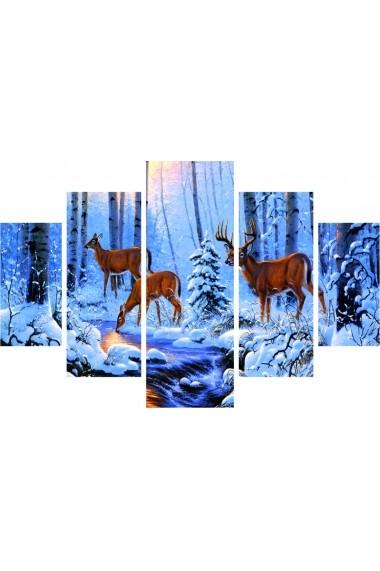 Set tablouri MDF 5 piese Destiny ASR-247DST1954 Multicolor - els