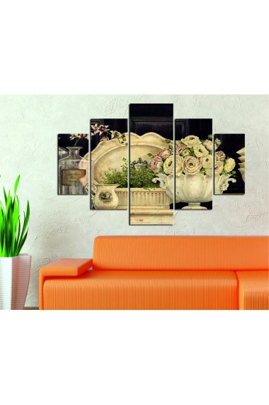 Set tablouri MDF 5 piese Destiny ASR-247DST1981 Multicolor - els