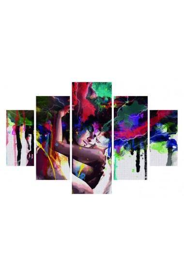 Set tablouri MDF 5 piese Destiny ASR-247DST1987 Multicolor - els