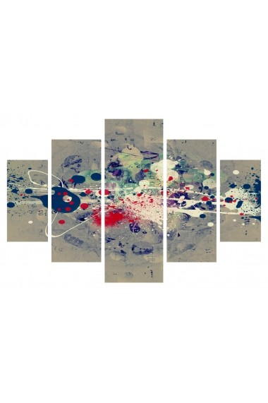Set tablouri MDF 5 piese Destiny ASR-247DST2909 Multicolor - els