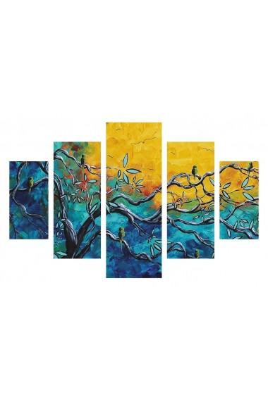 Set tablouri MDF 5 piese ASR-247DST2955 Multicolor