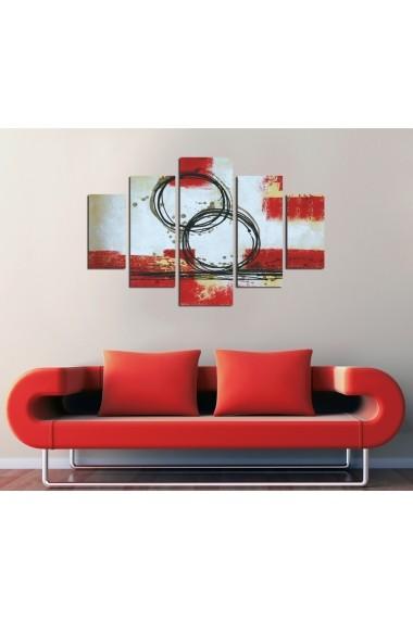 Set tablouri MDF 5 piese ASR-247DST2969 Multicolor - els