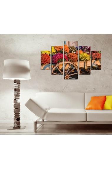 Set tablouri MDF 5 piese ASR-247DST2970 Multicolor - els