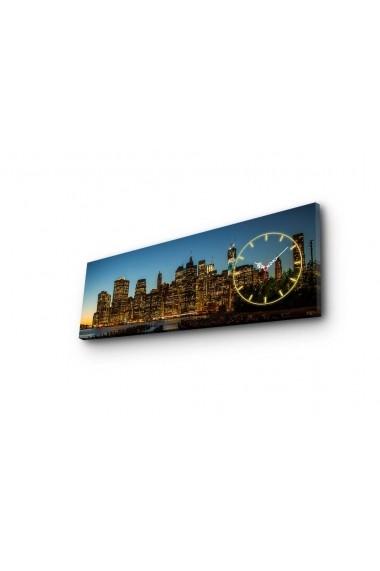 Ceas decorativ de perete Clockity ASR-248CTY1613 Multicolor