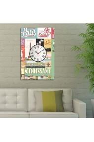 Ceas decorativ de perete Clockity ASR-248CTY1650 Multicolor