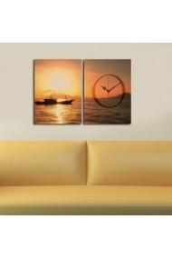 Ceas decorativ de perete(2 piese) Clockity ASR-248CTY1655 Multicolor