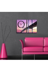 Ceas decorativ de perete(2 piese) Clockity ASR-248CTY1656 Multicolor