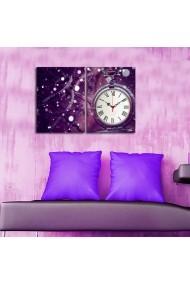 Ceas decorativ de perete(2 piese) Clockity ASR-248CTY1657 Multicolor