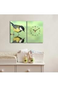 Ceas decorativ de perete(2 piese) Clockity ASR-248CTY1659 Multicolor