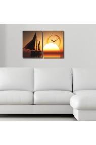 Ceas decorativ de perete(2 piese) Clockity ASR-248CTY1661 Multicolor